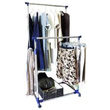 Portable Coat Rack Wheels This Portable Clothes Rack With Double Horizontal Bars Is Great For 74