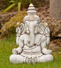 buddha garden statue. Ganesh Stone Buddha Statue - Large Garden Ornament U