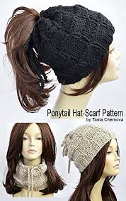 Ponytail Hat Knitting Pattern Fascinating Ponytail Hat Pattern Knitting Pattern Ponytail Beanie Pattern Womens