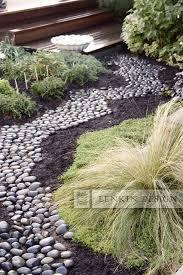 River Rock Path contemporary-landscape