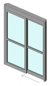curtain wall panel automatic sliding single door