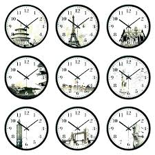 wall clock with diffe time zones timezone wall clock time zone wall clock clocks dual the wall clock with diffe time zones