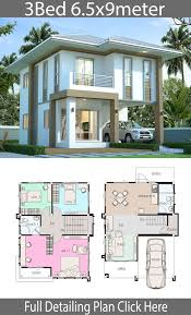 House design plan 6.5x9m with 3 bedrooms - Home Ideas | House construction  plan, Model house plan, House designs exterior