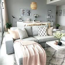 decorate grey blush pink living room
