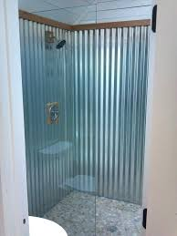 corrugated metal bathroom galvanized bathroom with metal shower cads contemporary and corrugated pebble flooring a corrugated