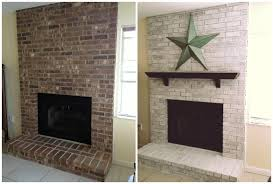 whitewash brick fireplace before and after fireplace designs