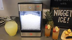 the opal nugget ice machine produces its first nuggets of ice within 15 minutes