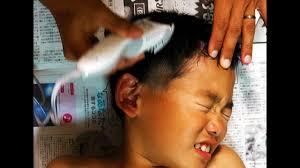 バリカンで髪を切ったよ子供の髪の切り方バリカン編 10分で完了超簡単