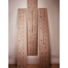 Straight Up Kids Wooden Ruler Height Chart