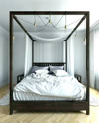 Wood Canopy Bed Queen Wood Canopy Bed Canopy Brilliant Four Poster ...