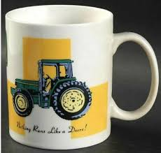 Gibson john deere thermal double wall stainless steel, 17oz green travel mug. Tractor Mug John Deere By Gibson Designs Individual Coffee Tea Mugs 3 3 4 Agriculture Springfieldcommonsnj Collectibles