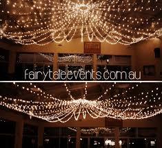 fairy light canopy installation