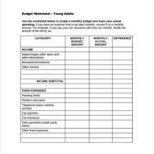 Sample Household Budget Worksheet Household Budget
