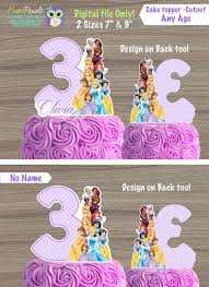 Disney Princess Cake Topper Disney Princess Birthday Etsy