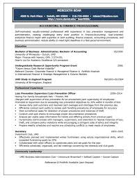 Accounting Resume Profile Examples   Resume and Cover Letter