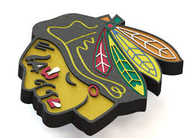 3D Printed Chicago Blackhawks logo by Ryšard Poplavskij | Pinshape