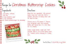Printable Christmas Recipe Cards Holiday Recipe Cards Under Fontanacountryinn Com