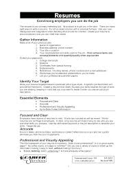 Simple Job Resume Outline How To Make Simple Resume For A Job Create Resume For Job Create