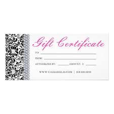 Gift Certificate Printable Free Salon Gift Certificate Template Free Printable Free