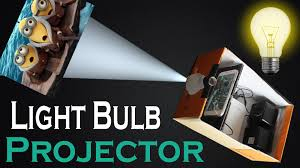 how to make light bulb smart phone projector at home easy diy light bulb and shoe box projector you