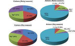Pie Chart Of Average Concentrations Of Major Ions Showing