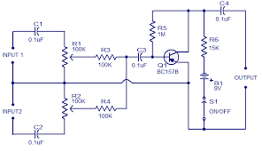 low cost mic mixer electronic circuits and diagram electronics low cost mic mixer circuit