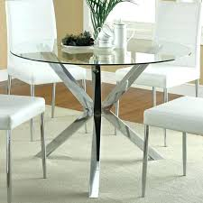 glass dining table base glass round top dining table top entrancing round glass dining table image