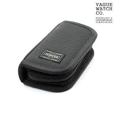 nanaple two watch case yoshida bag porter watch storing black nylon x leather collection box porter wc s 001 rakuten global market
