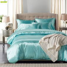 dekop bedding set comforter bedding sets duvet cover satin luxury white duvet cover set queen king size bed home textile malaysia