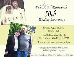 sle invitation for wedding anniversary