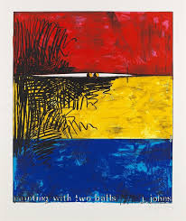 painting with two by jasper johns