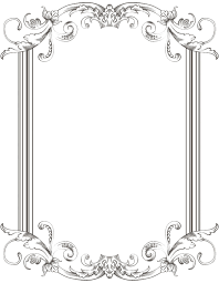 white antique picture frames. 28+ Collection Of Antique Frames Drawing White Antique Picture Frames