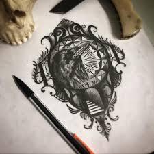 Palmers Tattoo Crow Sketch Facebook
