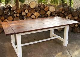 hand crafted reclaimed wood trestle style farmhouse table farmhouse table base build