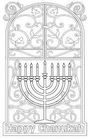 Jewish Coloring Page Hanukkah Coloring Postcard