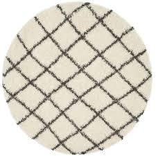 safavieh dallas ivory dark gray 6 ft x 6 ft round area