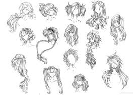 anime hairstyles for girls sketch. Draw Anime Hair And Hairstyles For Girls Sketch