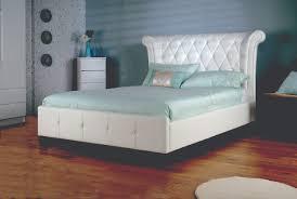 limelight epsilon white leather bed frame