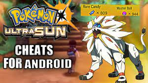 POKEMON ULTRA SUN CHEATS FOR CITRA EMULATOR|ANDROID|RARE CANDY AND MASTER  BALL - YouTube