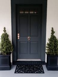 front door painted in farrow ball down pipe