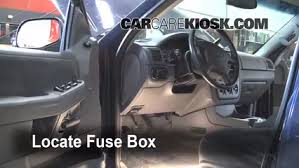 interior fuse box location 2002 2005 ford explorer 2002 ford 1993 Ford Ranger Fuse Box Location locate interior fuse box and remove cover 1993 ford ranger fuse box diagram
