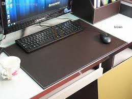 whole 60x45cm large wood leather office desk writing drawing computer desk mat