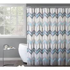 gray and blue shower curtain. vcny home chevron printed reyna peva shower curtain 14-piece bath set - 70 x gray and blue h