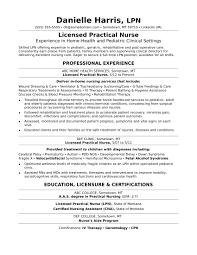 Nurse Resume Cover Letter Licensed Practical Nurse Resume Sampl On Lpn Resume Sample 59