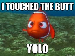 i touched the butt yolo - nemo yolo meme - quickmeme via Relatably.com