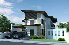 Design Exterior Case Moderne : Apartment characteristics of modern design home bright colored