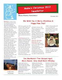family newsletter maino family christmas newsletter 2012