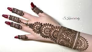 Henna Art 4 Beautiful Circular Mehendi Design With Pearl Effect Dots By Skaur1n0nly