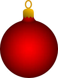 Red Christmas Tree Ornament - Free Clip Art