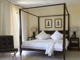 Neat Bedroom Bedroom Contemporary Brown Wooden Four Poster Bed And Neat